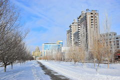 A street view in Astana / Kazakhstan Royalty Free Stock Images