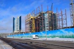 A street view in Astana / Kazakhstan Royalty Free Stock Image