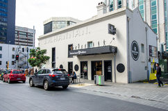 Street view of Auckland city in New Zealand. Royalty Free Stock Image