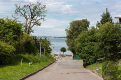 Street view on baltic sea Royalty Free Stock Photo