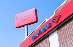 Street View of Bank of America Branch Bank Stock Images