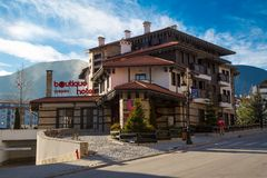 Street view in Bansko Royalty Free Stock Photo