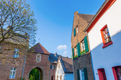 Street view of Bedburg Alt-Kaster, Germany Stock Photo