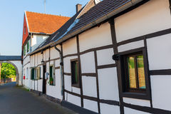 Street view in Bedburg Alt-Kaster, Germany Royalty Free Stock Photos