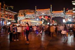 Street view in Beijing at night Stock Images