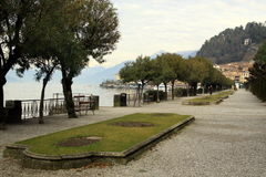 Street view in Bellagio, Lake Como, Italy. Lombardy Royalty Free Stock Photos