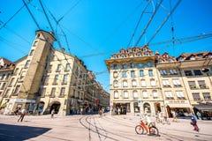 Street view in Bern city Stock Image