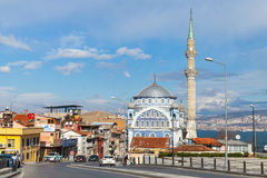 Street view of Birlesmis Milietler Cd. with Fatih Camii Royalty Free Stock Images