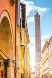 Street view in Bologna city Royalty Free Stock Images