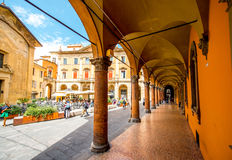 Street view in Bologna city Royalty Free Stock Image