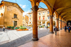 Street view in Bologna city Stock Photos