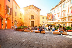 Street view in Bologna city Stock Images