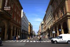 Street view Bologna Italy Stock Photo