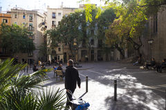 Street view in Born Quarter in Barcelona Royalty Free Stock Images