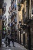 Street view in Born Quarter in Barcelona Royalty Free Stock Image