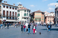 Street view bra the square near the Arena in Verona Stock Photography