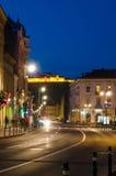 Street view in Brasov stock image