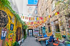 Street view in Brunnenstra�e, Mitte district, Berlin Stock Images