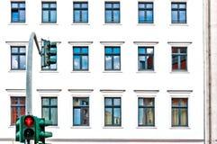 Street view in Brunnenstraße, Mitte district, Berlin Stock Photography
