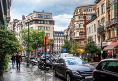 Street in Brussels Stock Photography