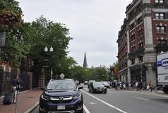 Cambridge MA, 30th june: Street View from Cambridge Massachusettes State of USA. Street view from Cambridge Massachusettes State of USA on 30th june 2017 Stock Photo