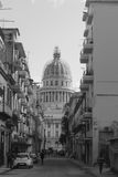 street view with capitolio at background, La Havana, Cuba Royalty Free Stock Images