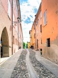 Street view in Castelvetro di Modena, Italy royalty free stock images