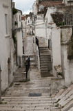 Street view of the center of monte sant angelo Stock Photo