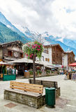 Street view of Chamonix town, France Stock Photos