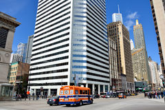 Street view of Chicago downtown Royalty Free Stock Photos