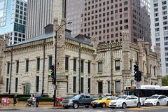 Street view of Chicago North downtown. Chicago city north downtown street view and traffic. Photo taken in October 5th, 2014 Royalty Free Stock Photo