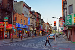 Street view in Chinatown in Philadelphia PA stock photos