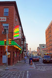 Street view in Chinatown in Philadelphia of PA Stock Image