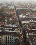 Street view from Cinema Tower in Torino Stock Photos