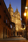 Street view on Clerecia Church, Salamanca, S Royalty Free Stock Images