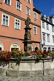 Street view in Coburg, Germany Royalty Free Stock Images