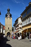 Street view in Coburg, Germany Royalty Free Stock Photography