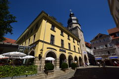 Street view in Coburg, Germany Royalty Free Stock Photos