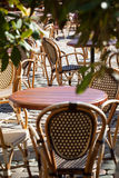 Street view of a coffee terrace Stock Photography