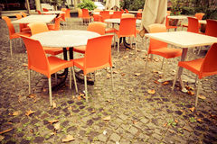 Street view of a coffee terrace Royalty Free Stock Photo