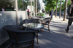 Street view of a coffee terrace Royalty Free Stock Image
