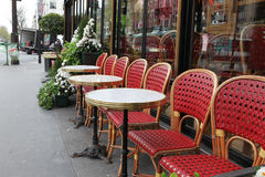 Street view of a coffee terrace Royalty Free Stock Photos