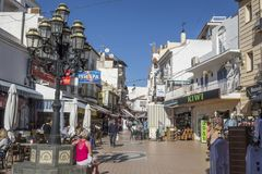 Street view comercial area city center in Torremolinos,Spain.  Stock Images