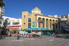 Street view comercial area city center in Torremolinos,Spain.  Stock Photography