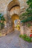 Street view of Cordes-sur-Ciel, France. Royalty Free Stock Photos
