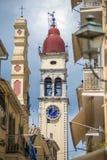 Street view of Corfu, Greece.  Royalty Free Stock Image