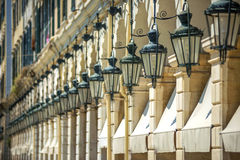 Street view of Corfu, Greece stock images