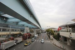 Street view of Daiba district in Tokyo. Japan Royalty Free Stock Image
