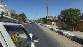 Street view of Daraw, Egypt stock video footage