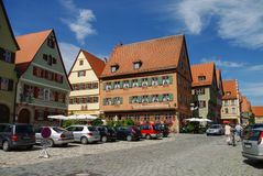 Street view of Dinkelsbuhl, one of the archetypal towns on the G Stock Photos